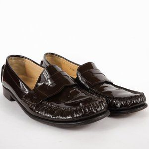 Cole Haan Shoes - Cole Haan Penny Loafers Dark Brown Patent Leather